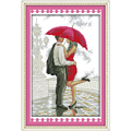 A Romantic Walking in the Rain Counted Cross Stitch 11CT 14CT Cross Stitch Set Wholesale Cross-stitch Kit Embroidery Needlework