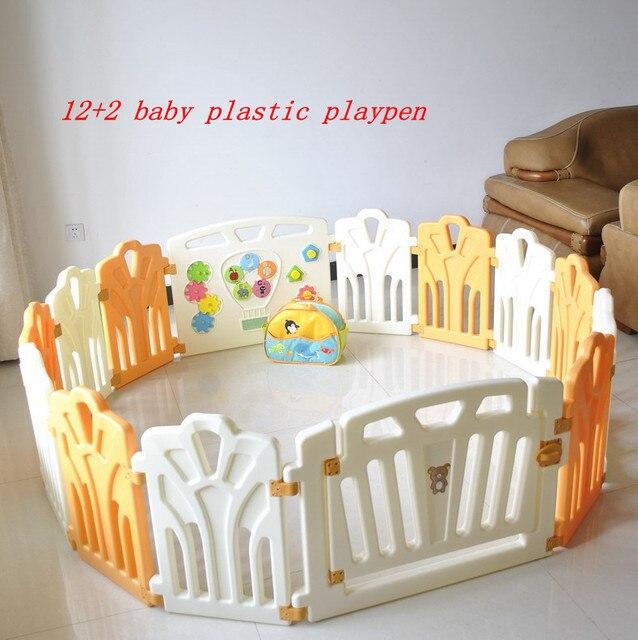 מעולה  12 + 2 ייבי פלסטיק לול , גדר משחק תינוק , גדר בטיחות לילדים , לשחק MQ-35