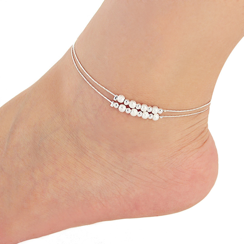 New Charm Anklets for Women Silver Plated round ball Ankle Chain For Women JL 028