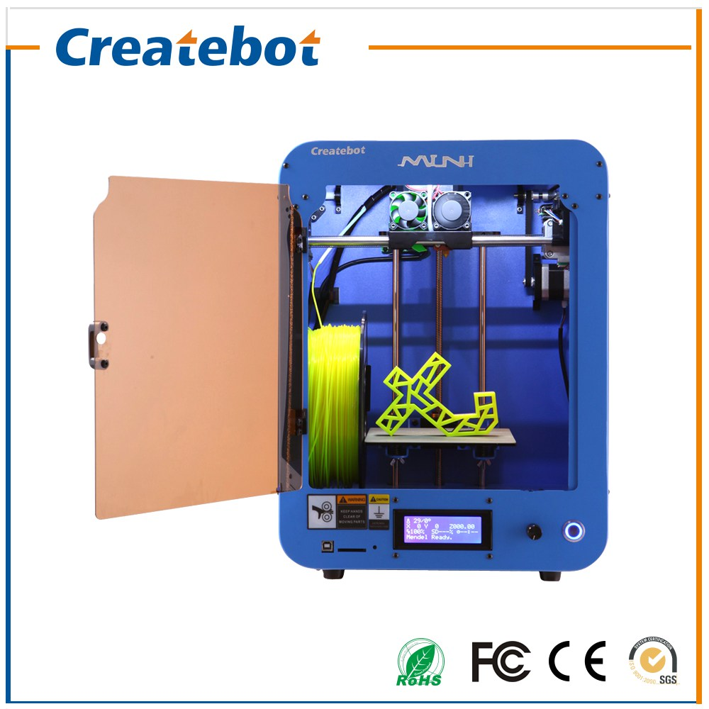 Certificate Createbot Printer no Heatbed, LCD Screen Single Extruder