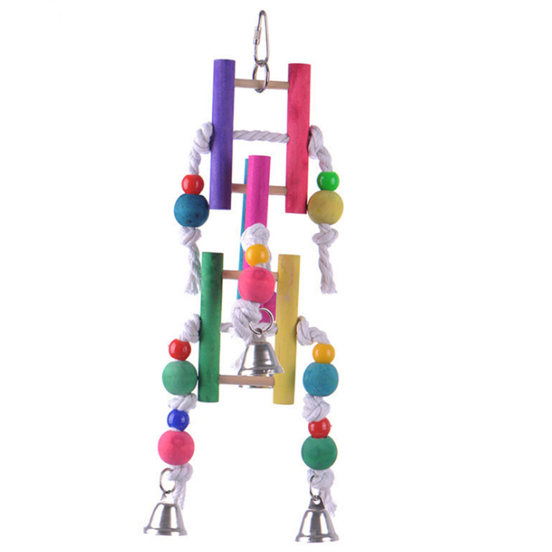 1Pcs Pets Climbing toy parrot rope chewing bird toys bite cotton stair swing Bird cage accessories