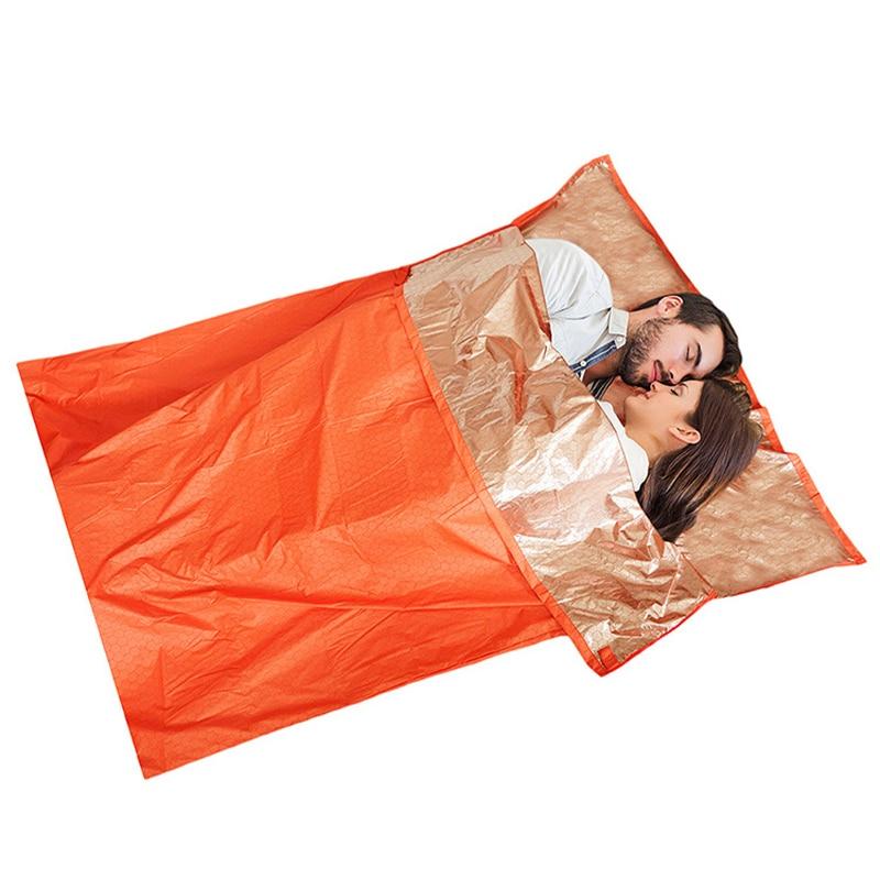 Ultra Light Sleeping Bag Outdoor Camping Envelope Style Thermal Reflection WarmSleeping Bags Emergency Survival Sleeping Bag
