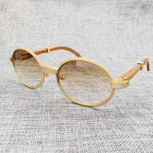 LAOKE Handmake Luxury DIAMOND brand designer Carter sunglasses women Rihnstone carter glasses wood sunglass men wooden sun glass