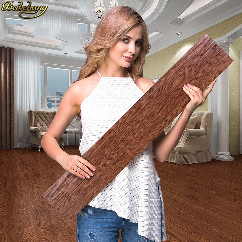 beibehang Self adhesive glue free plastic floor stickers PVC household thick wear resistant waterproof plastic floor