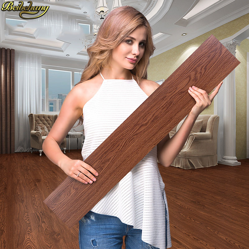Beibehang Self-adhesive Glue-free Plastic Floor Stickers PVC Household Thick Wear-resistant Waterproof Plastic Floor Leather