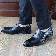 FELIX CHU 2017 Classic Luxury Genuine Leather Black Sequined Men Dress Suit Shoes  Round Toe Male Office Wedding Shoes 1815-09
