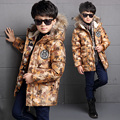 teenage boys Winter children's clothing wadded jacket camouflage boy cotton-padded plus velvet thickening outerwear