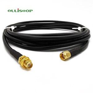 RF LMR200 Cable de baja pérdida de Cable SMA macho a SMA hembra conector de antena Coaxial SMA enchufe a SMA Jack 1M 3M 5M 8M 10M 12M 15M
