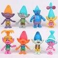 8Pcs/set DreamWorks Trolls PVC Action Figures Trolls Doll Toys For Kids Christmas Gift Kawaii Dolls Toys For Children