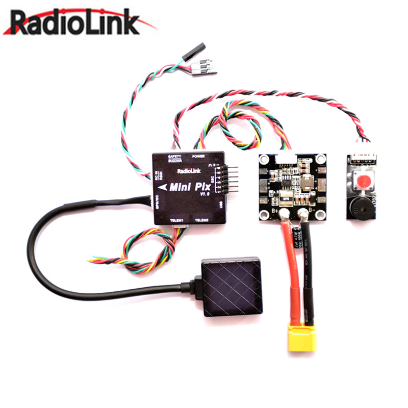 Radiolink Mini PIX F4 Flight Controller MPU6500 w/ TS100 M8N GPS UBX-M8030 For RC Models Flight Controller Spare Part original naza gps for naza m v2 flight controller with antenna stand holder free shipping