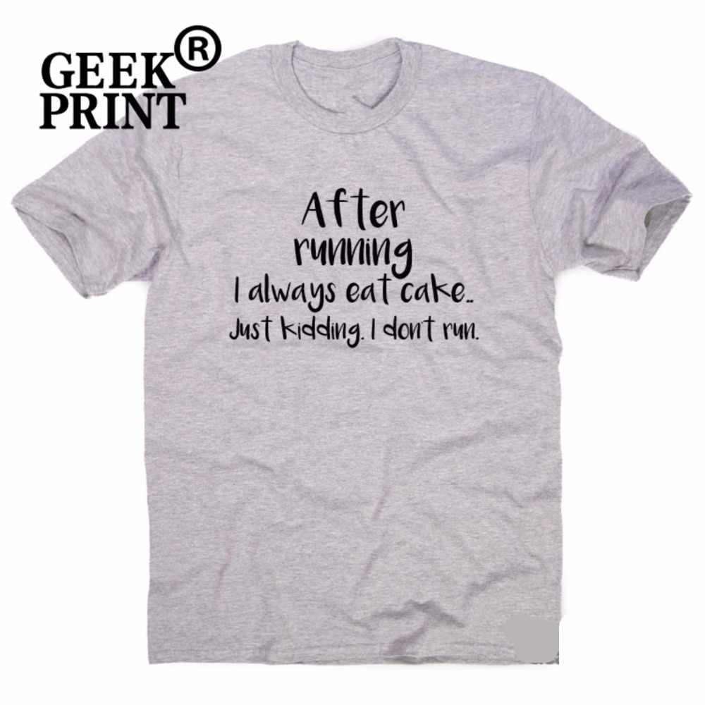 Setelah Menjalankan Aku Selalu .. Lucu Gym T-shirt Wanita Training Humor Workout Atas Tshirts Dropshipping