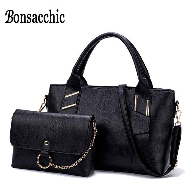 46b00d61e Bonsacchic Conjunto Saco de Mão Da Mulher de Couro Bolsas das Mulheres  Bolsas E Bolsas bolsas