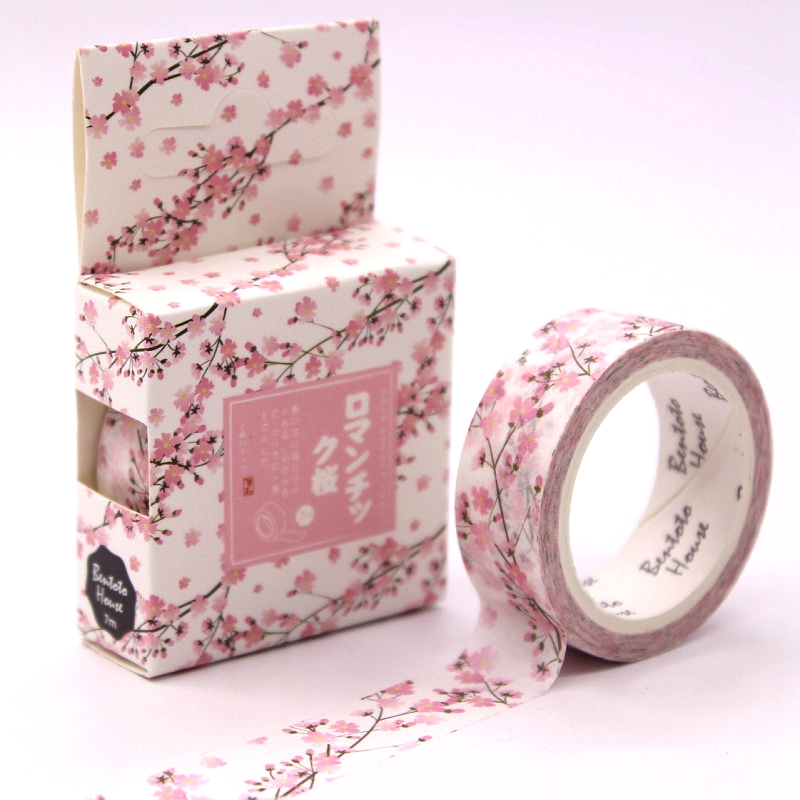 Romantic Season of Cherry Decorative Washi Tape DIY Scrapbooking Masking Tape School Office Supply Escolar Papelaria colorful gilding hot silver alice totoro decorative washi tape diy scrapbooking masking craft tape school office supply
