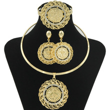 ФОТО   Milan  Dubai gold coin design African women party gold jewelry wedding necklace bracelet suit