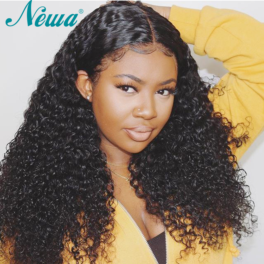 Newa Hair Full Lace Human Hair Wigs Curly Brazilian Full Lace Wig Pre Plucked With Baby