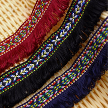 Vangull Bohemian Embroidered lace Basic Tassel Vintage Fringe Tape Trim Elegant Tassel Fringe