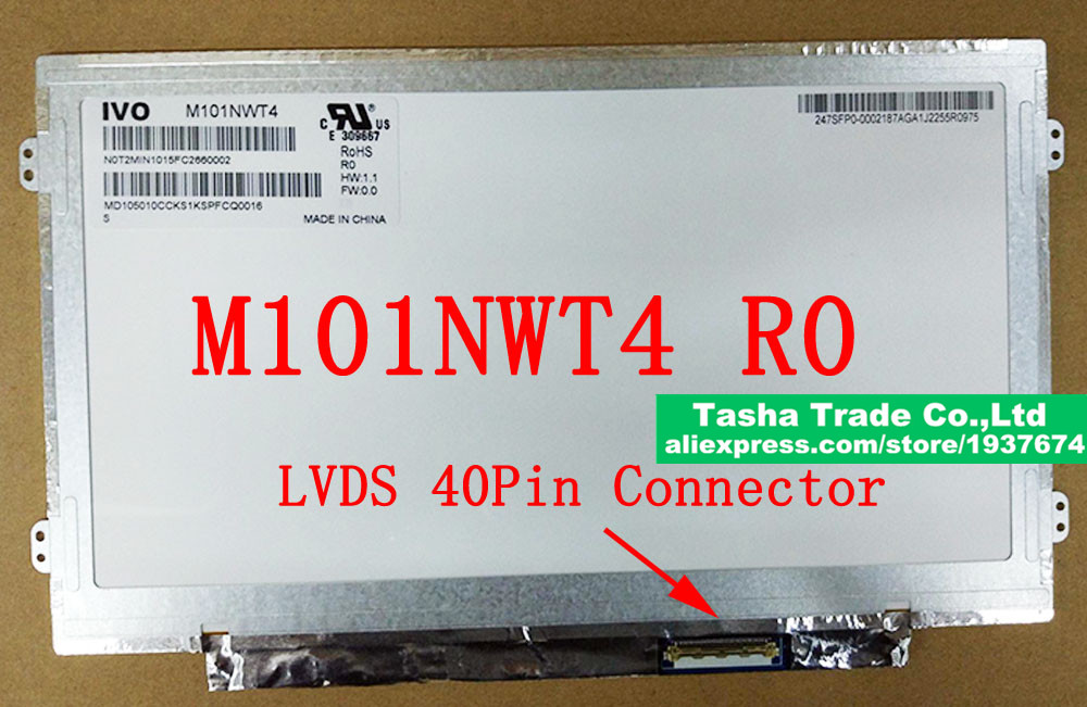 M101NWT4 R0 M101NWT4-R0 Slim LCD Screen Matrix Panel 10.1 inch 1024*600 LVDS 40pins Laptop Replacement