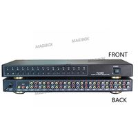 Audio Video Selector 16 inputs 1 outputs video switcher AV Switcher AV Selector CCTV