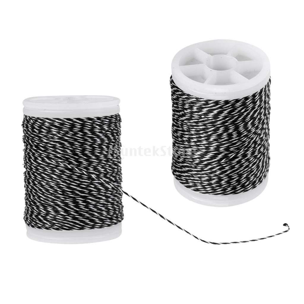 2 Pieces 110m Archery Bow String Serving Material Thread Bowstring Protect