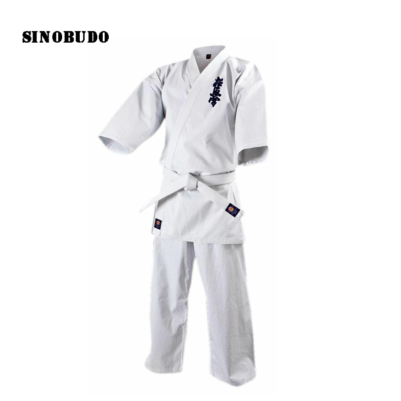 Comfort Kyokushinkai Dogi Dobok Taekwondo Uniform Kyokushin Uniform For Adult Children competition Training Karate Dobok j calicu taekwondo dobok adults children male taekwondo poomsae clothes cool cotton striped genuine for have dan persons karate