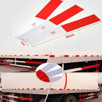 rete 5x30cm red white Reflective Tape Sticker Safe Warning sign Car construction road symbol Crash Guard etc Wholesale image