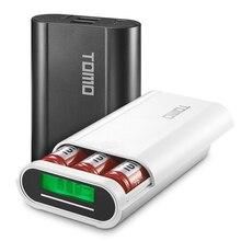 Tomo 18650 3.7 v caso carregador de bateria com tela lcd portátil display diy power bank 5 v 2a saída max m3