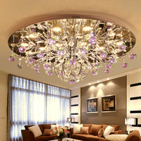 IWHD Modern LED Ceiling Lighting Fixtures Tricolor Dimming Modern Plafondlamp K9 Crystal Bedroom Luminarias Para Teto