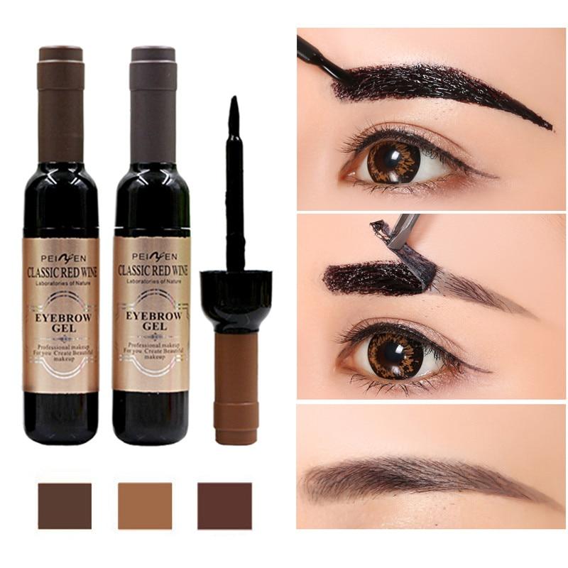 1Pcs Eyebrow Tattoo Gel Black Coffee Gray Peel Off Eye Brow Shadow Eyebrow Gel Cosmetics Makeup For Women High Pigmented Makeup(China)