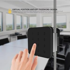 Image 2 - シャーロックパスワードドアロックデジタル電気スマートロックbluetoothアプリ電話制御G1 ロックオフィスガラスドアなど