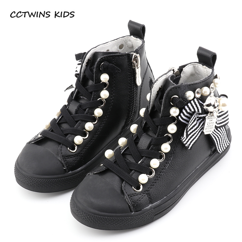 CCTWINS KIDS 2017 Toddler Girl Baby Brand Pearl High Top