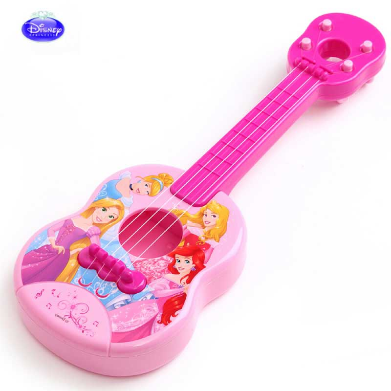 Disney Children Gifts Genuine Boys And Girls Simulation Children's Musical Toys  Blue Mickey Pink Princess Plastic Guitar