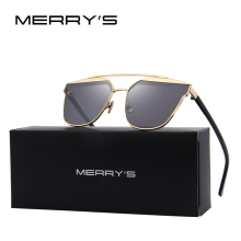 MERRY'S 2017 New Arrival Women Classic Brand Designer Cat Eye Sunglasses Twin Beam Metal Frame Sun Glasses S'8098