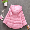 2016 the winter baby girl clothing fashion cartoon shaped hooded snow wear cute wing baby clothing
