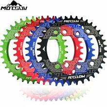 MOTSUV велосипедная круглая овальная цепь колесо кривошипно т 32-38 t 104BCD велосипедная кривошипно-цепная колесо узкая широкая коленчатая цепь велосипедная запчасти