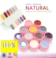 12 Colours LED UV Gel Builder Cover Pure Soak Off Natural UV Nail Art Tips Natural