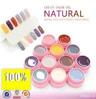 12 Kleuren LED UV Gel Builder Cover Pure Losweken Nail Art Tips Kit Natuurlijke Serie 113-124 CANNI