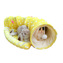 Pet Tunnel Cat Beds House and Sleep with Ball Cat Play Tunnel Funny Cat Long Tunnel Play Toy Collapsible Bulk Free Shipping