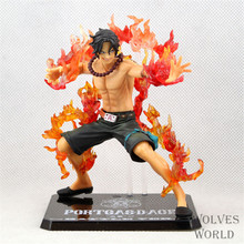 One Piece Portgas D Ace Battle Version Fire Fist Ace Action Figure