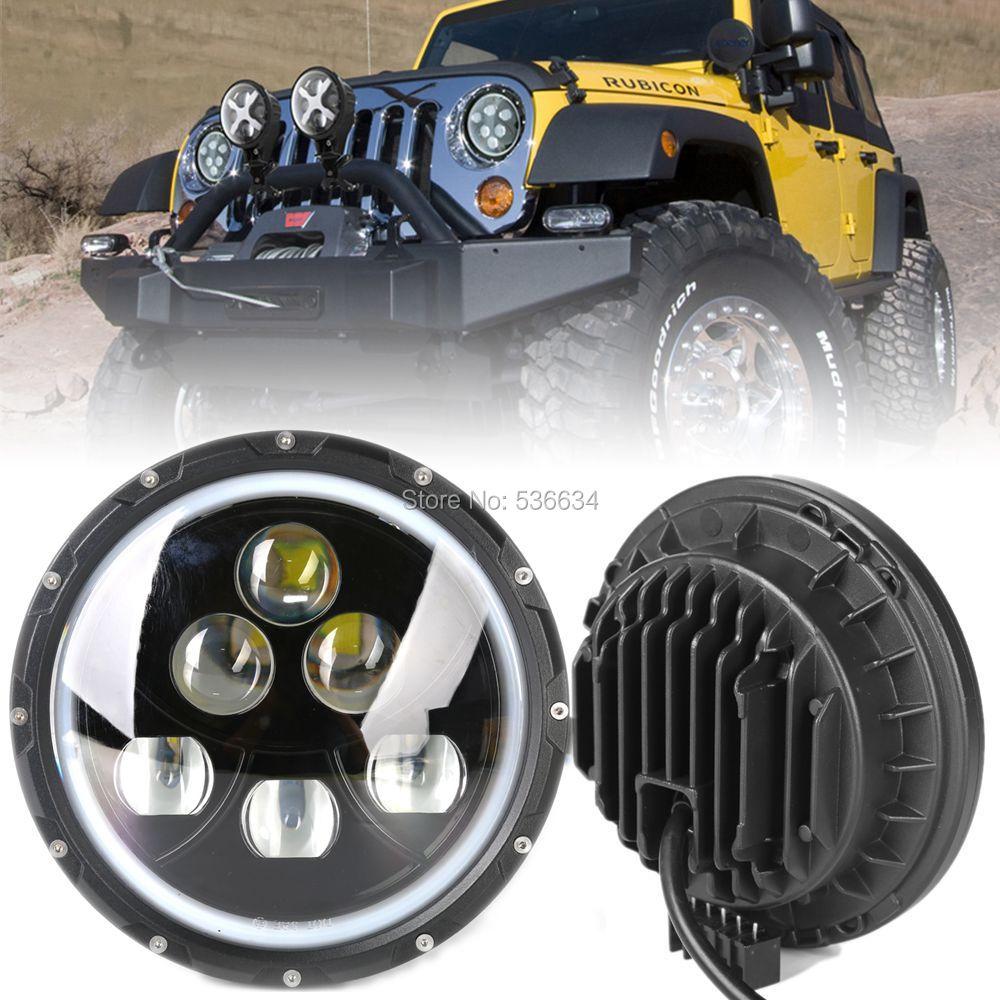 1 пара 60 Вт 7 дюймов круглый светодиодный проектор фары DRL фары H4 Привет/низкий Луч для Wrangler JKU неограниченное 4 двери для джип Рэнглер ТИДЖЕЙ