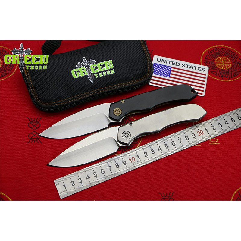 GREEN THORN AMAX Flipper folding knife S35VN blade Titanium handle Outdoor camping hunting pocke fruit knives Survival EDC tool цены