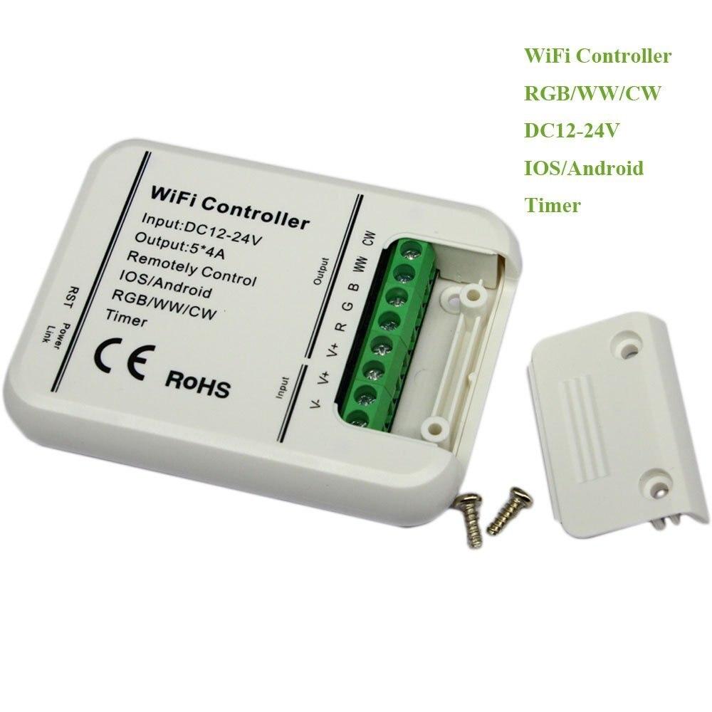 C19 Dimmable Sans Fil DC 12-24 V IOS Android WIFI À Distance 5 Canaux Contrôleur pour RGB/RGBW LED bande Lumière Lampe Ampoule LD686