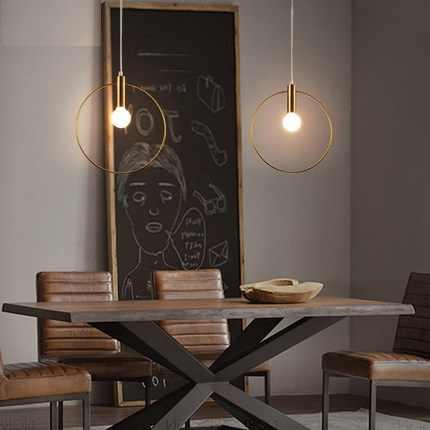 Лофт Стиль простой современный светодиодный подвесные светильники Винтаж промышленное освещение Обеденная железная висячая лампа Освещение в помещении