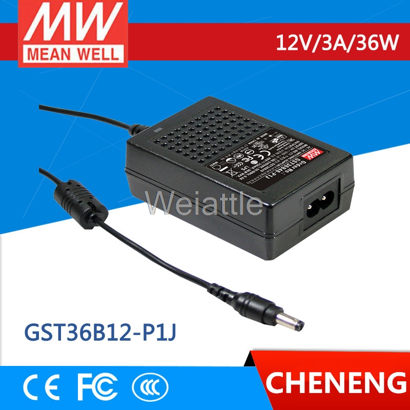 MEAN WELL original GST36B12-P1J 12V 3A meanwell GST36B 12V 36W AC-DC High Reliability Industrial Adaptor selling hot mean well gst280a12 c6p 12v 21a meanwell gst280a 12v 252w ac dc high reliability industrial adaptor