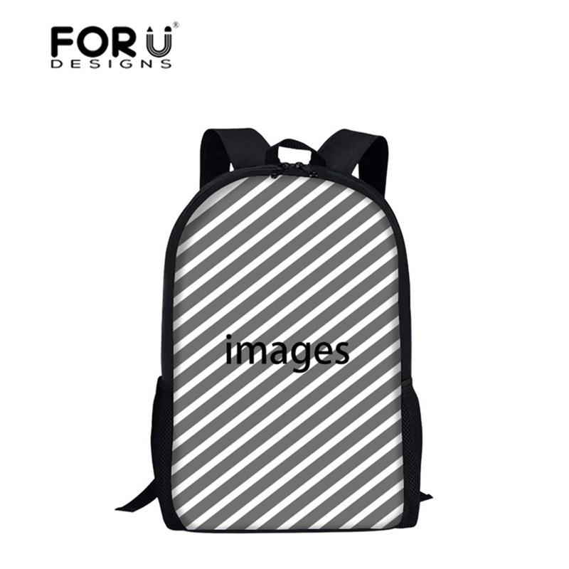FORUDESIGNS Bienvenido personalizado bolsas de escuela para niños mochila escuela mochila para niñas niños ortopédicos estudiantes Bookbag