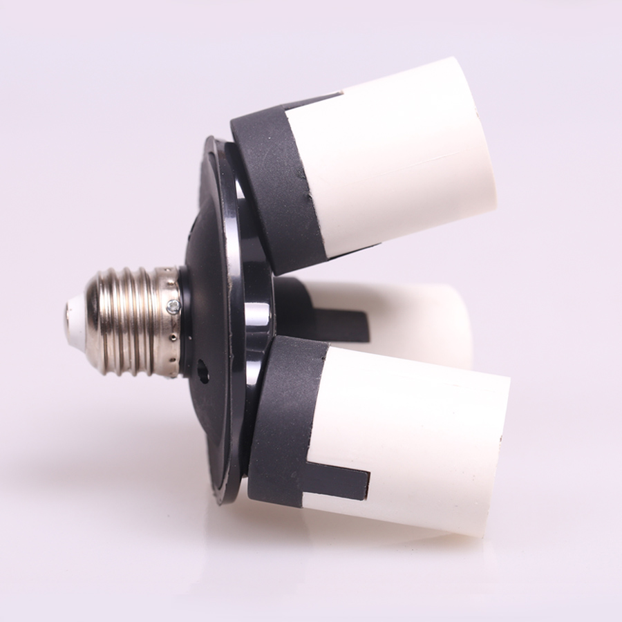 Photo Studio 1-3 E27 Lamp Base Bulb Socket Splitter Adapter 3 in 1 Light Holder Photo Studio Accessories