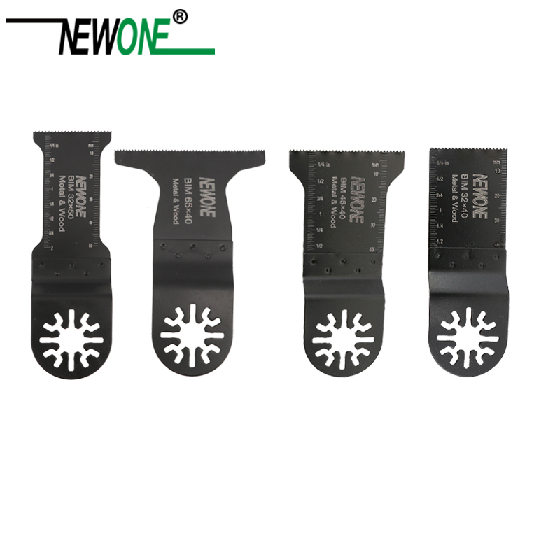 NEWONE 4Pcs Multi Tool High Carbon Steel Bi-metal Oscillating Saw Blades Accessories Kit DIY Home Tool Multi Tool Set