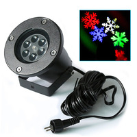 Colorful Automatically LED Moving Snowflakes Spotlight Lamp Wall Tree Christmas Garden Landscape Decoration Projector Light