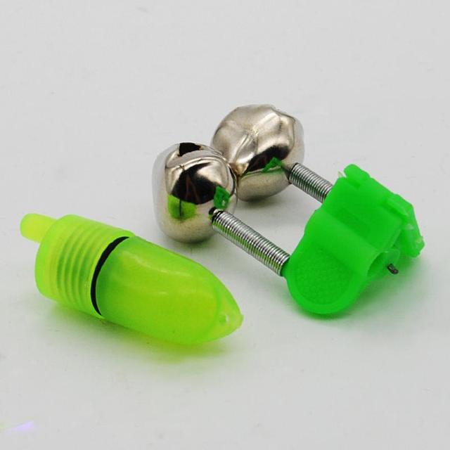 5pcs/set LED Fishing Rod Bite Alarm Bells Ring