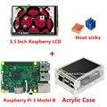 3.5 ''Малины ЖК-Экран TFT + Raspberry Pi 3 Модель B + Акриловый Чехол + радиаторы