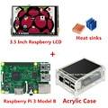 3.5 ''TFT LCD Screen + Frambuesa Raspberry Pi 3 Modelo B + Acrílico Caso disipadores de Calor